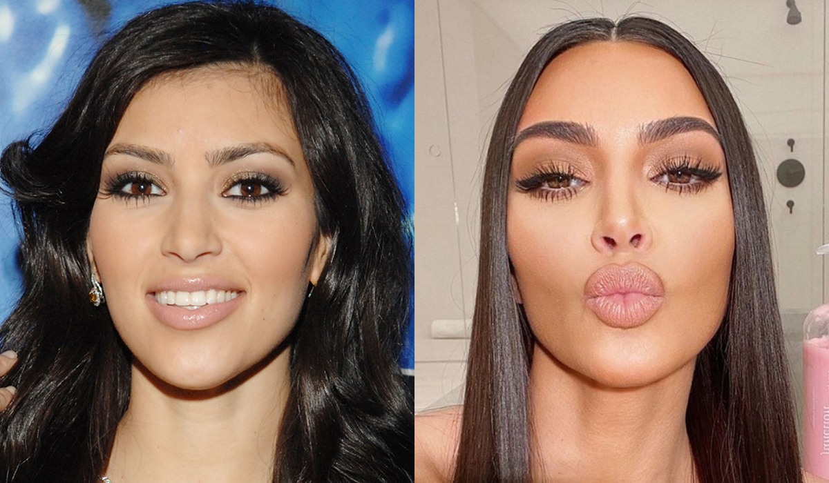 Kim Kardashian brow transformation